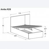 R28 131 x 209 x h  92 cm (dimensioni materasso 90 x 200 cm)